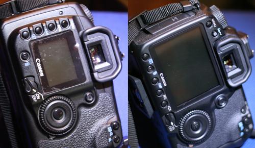 Rückseiten der Canon EOS 40D und Canon EOS 20D