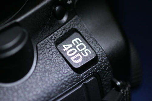 Canon EOS 40D Typenschild