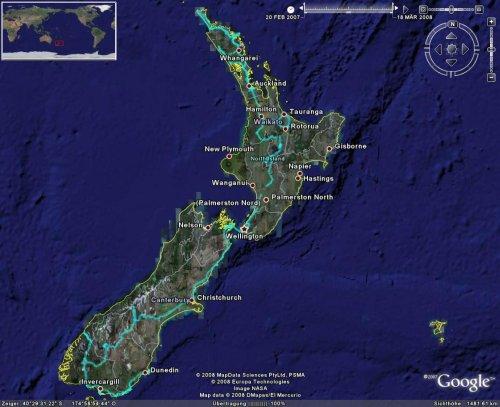 Neuseeland-Karte Thumbnail